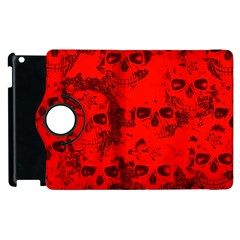 Cloudy Skulls Red Apple Ipad 3/4 Flip 360 Case by MoreColorsinLife