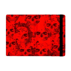 Cloudy Skulls Red Ipad Mini 2 Flip Cases by MoreColorsinLife