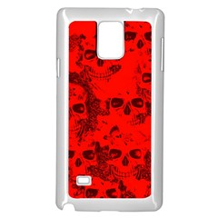 Cloudy Skulls Red Samsung Galaxy Note 4 Case (white) by MoreColorsinLife