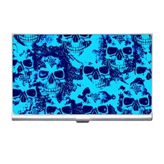 Cloudy Skulls Blue Business Card Holders by MoreColorsinLife