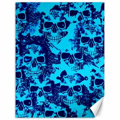 Cloudy Skulls Blue Canvas 12  X 16   by MoreColorsinLife