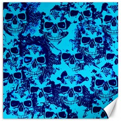 Cloudy Skulls Blue Canvas 20  X 20   by MoreColorsinLife