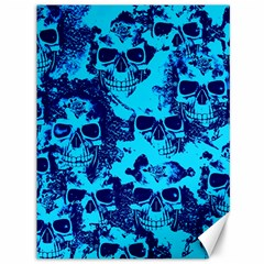 Cloudy Skulls Blue Canvas 36  X 48   by MoreColorsinLife