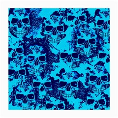 Cloudy Skulls Blue Medium Glasses Cloth by MoreColorsinLife