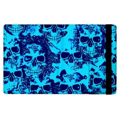 Cloudy Skulls Blue Apple Ipad 3/4 Flip Case by MoreColorsinLife