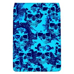 Cloudy Skulls Blue Flap Covers (l)  by MoreColorsinLife