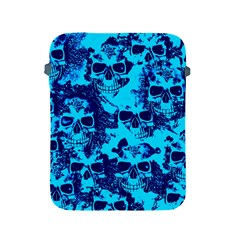 Cloudy Skulls Blue Apple Ipad 2/3/4 Protective Soft Cases by MoreColorsinLife