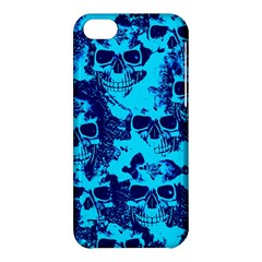Cloudy Skulls Blue Apple Iphone 5c Hardshell Case by MoreColorsinLife