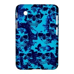 Cloudy Skulls Blue Samsung Galaxy Tab 2 (7 ) P3100 Hardshell Case  by MoreColorsinLife