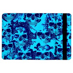 Cloudy Skulls Blue Ipad Air 2 Flip by MoreColorsinLife