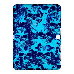 Cloudy Skulls Blue Samsung Galaxy Tab 4 (10 1 ) Hardshell Case  by MoreColorsinLife