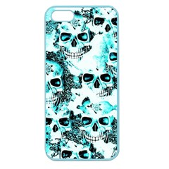 Cloudy Skulls White Aqua Apple Seamless Iphone 5 Case (color) by MoreColorsinLife