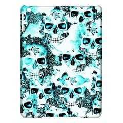 Cloudy Skulls White Aqua Ipad Air Hardshell Cases by MoreColorsinLife