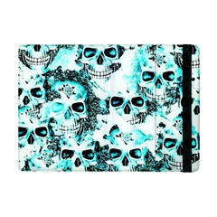 Cloudy Skulls White Aqua Ipad Mini 2 Flip Cases by MoreColorsinLife