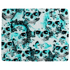 Cloudy Skulls White Aqua Jigsaw Puzzle Photo Stand (rectangular) by MoreColorsinLife