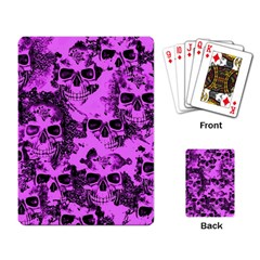 Cloudy Skulls Pink Playing Card by MoreColorsinLife