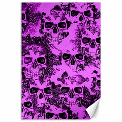 Cloudy Skulls Pink Canvas 24  X 36  by MoreColorsinLife
