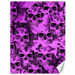 Cloudy Skulls Pink Canvas 36  X 48   by MoreColorsinLife