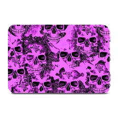 Cloudy Skulls Pink Plate Mats by MoreColorsinLife