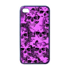 Cloudy Skulls Pink Apple Iphone 4 Case (black) by MoreColorsinLife