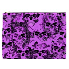 Cloudy Skulls Pink Cosmetic Bag (xxl)  by MoreColorsinLife