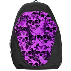 Cloudy Skulls Pink Backpack Bag by MoreColorsinLife