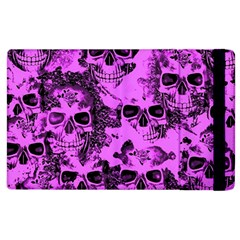 Cloudy Skulls Pink Apple Ipad 3/4 Flip Case by MoreColorsinLife