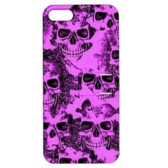 Cloudy Skulls Pink Apple Iphone 5 Hardshell Case With Stand by MoreColorsinLife