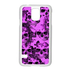 Cloudy Skulls Pink Samsung Galaxy S5 Case (white) by MoreColorsinLife