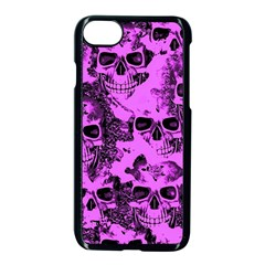 Cloudy Skulls Pink Apple Iphone 7 Seamless Case (black) by MoreColorsinLife