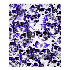 Cloudy Skulls White Blue Shower Curtain 60  X 72  (medium)  by MoreColorsinLife