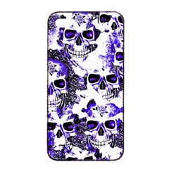 Cloudy Skulls White Blue Apple Iphone 4/4s Seamless Case (black) by MoreColorsinLife