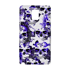 Cloudy Skulls White Blue Samsung Galaxy Note 4 Hardshell Case by MoreColorsinLife