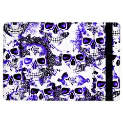 Cloudy Skulls White Blue Ipad Air 2 Flip by MoreColorsinLife