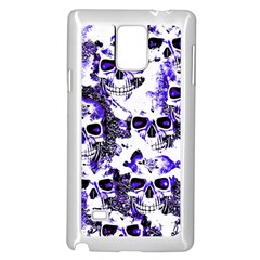Cloudy Skulls White Blue Samsung Galaxy Note 4 Case (white) by MoreColorsinLife
