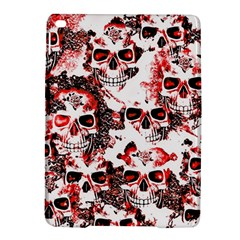 Cloudy Skulls White Red Ipad Air 2 Hardshell Cases by MoreColorsinLife