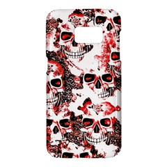 Cloudy Skulls White Red Samsung Galaxy S7 Hardshell Case  by MoreColorsinLife