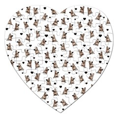 French Bulldog Jigsaw Puzzle (heart) by Valentinaart