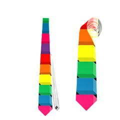 Colorful 3d Rectangles           Necktie by LalyLauraFLM