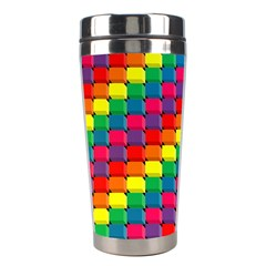 Colorful 3d Rectangles           Stainless Steel Travel Tumbler by LalyLauraFLM