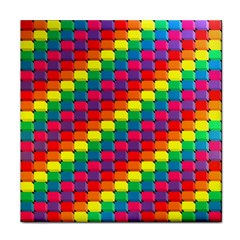 Colorful 3d Rectangles           Face Towel by LalyLauraFLM