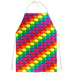 Colorful 3d Rectangles           Full Print Apron by LalyLauraFLM