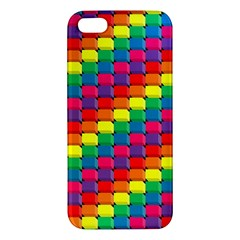 Colorful 3d Rectangles     Apple Ipod Touch 5 Hardshell Case With Stand by LalyLauraFLM