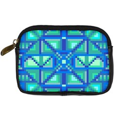 Grid Geometric Pattern Colorful Digital Camera Cases by Nexatart
