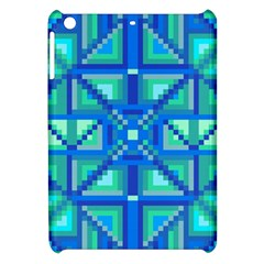 Grid Geometric Pattern Colorful Apple Ipad Mini Hardshell Case by Nexatart
