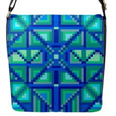 Grid Geometric Pattern Colorful Flap Messenger Bag (s)