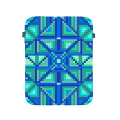 Grid Geometric Pattern Colorful Apple Ipad 2/3/4 Protective Soft Cases by Nexatart