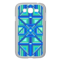 Grid Geometric Pattern Colorful Samsung Galaxy Grand Duos I9082 Case (white) by Nexatart