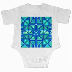 Grid Geometric Pattern Colorful Infant Creepers by Nexatart