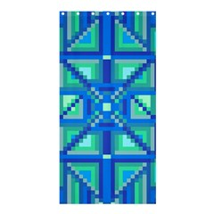 Grid Geometric Pattern Colorful Shower Curtain 36  X 72  (stall)
